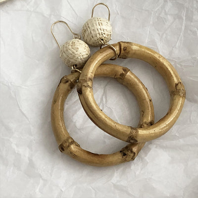 Large Bamboo Earrings