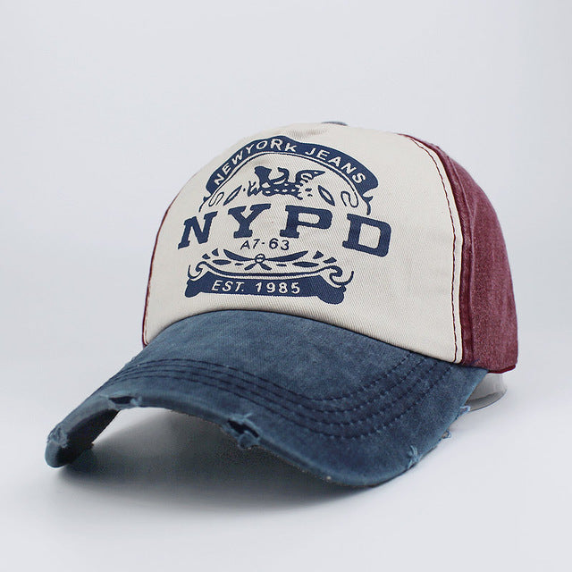 Washed NYPD Baseball Cap – Aspire Gear 76fe82b353d