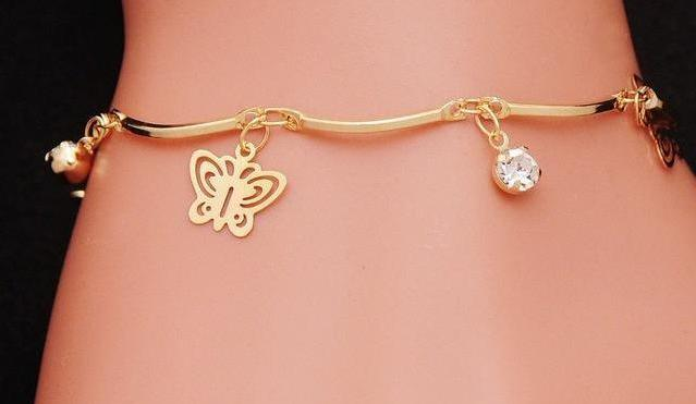Suicide Awareness Butterfly Crystal Charm Bracelet