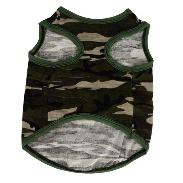 Green Army Camo Dog Shirt