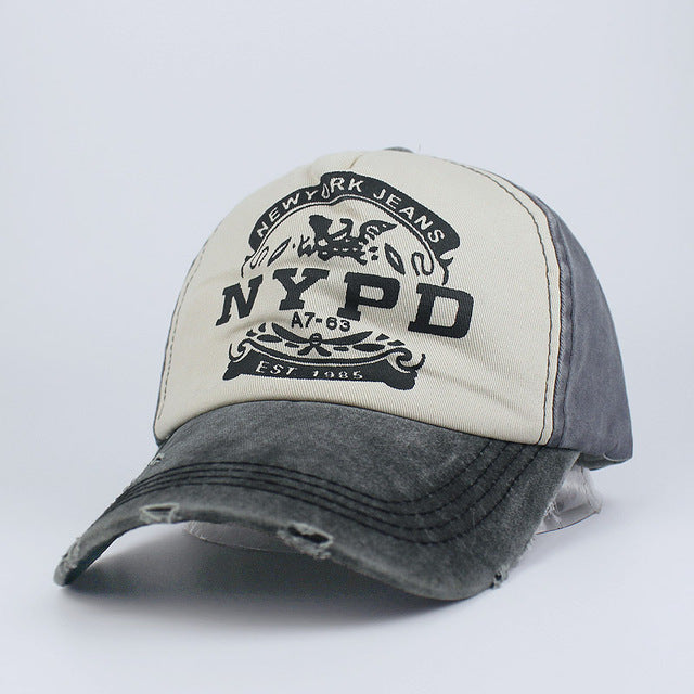 Washed NYPD Support Baseball Cap