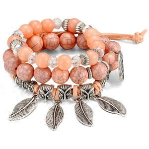 Multi-layered Uterine Cancer Awareness Bead Bracelet