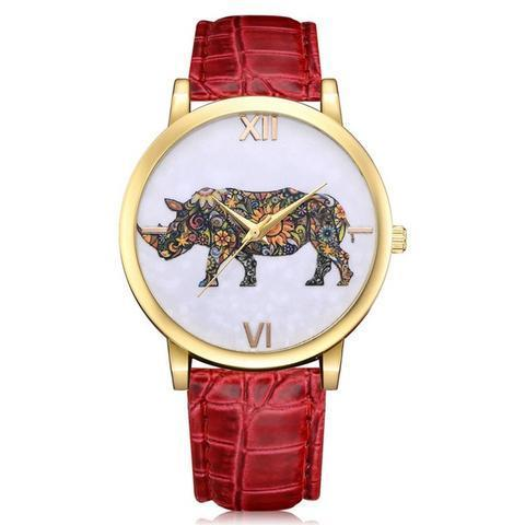 Classic Save the Rhino Leather Watch
