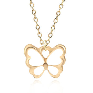 Dainty White Butterfly Necklace