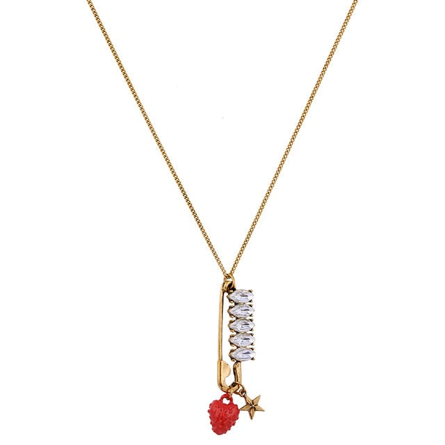 Strawberry Star Pendant Necklace