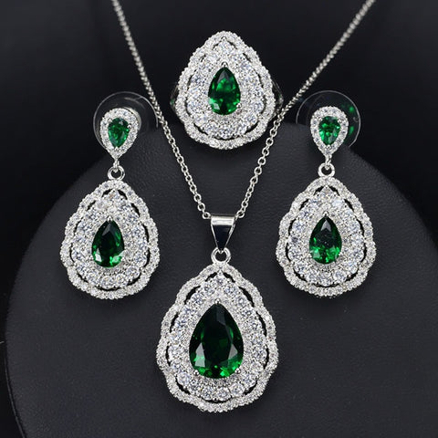 Halo Teardrop Mental Health Awareness Jewelry Set