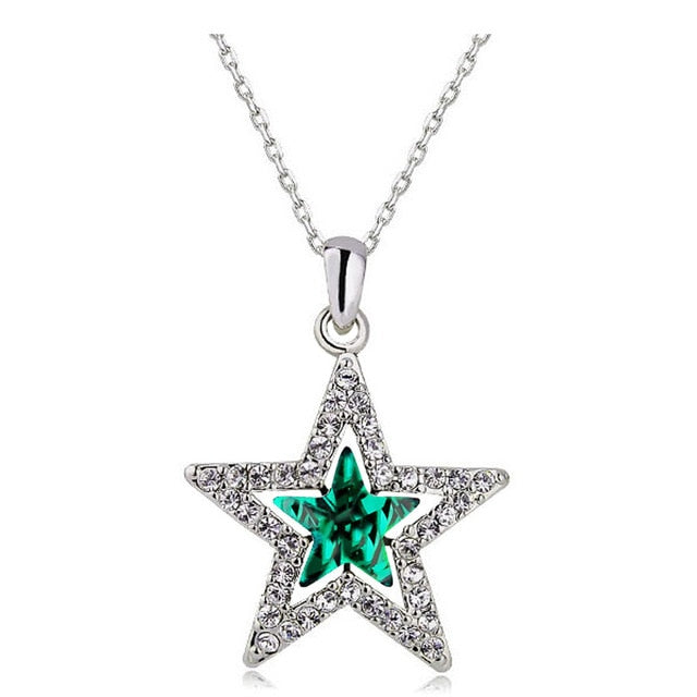 Green Star Crystal Necklace
