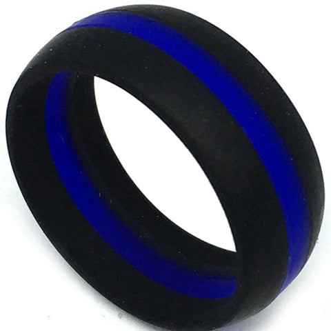 Blue Line Red Line Silicone Ring