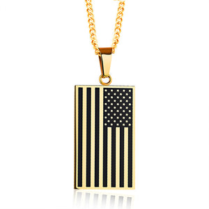 US Police Support Flag Necklace