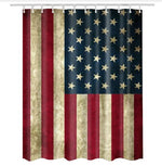 Vintage American Flag Shower Curtain