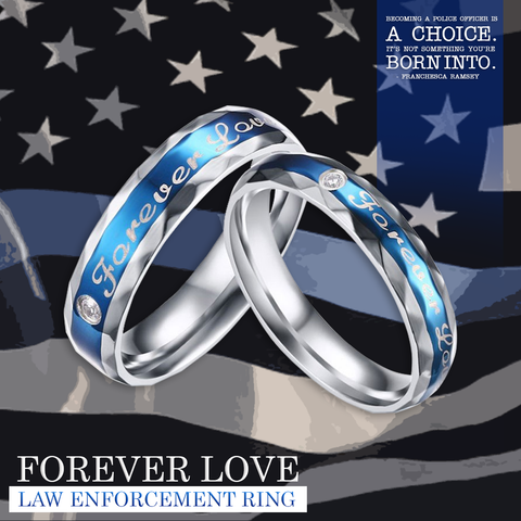 """Forever Love"" Law Enforcement Police Ring"