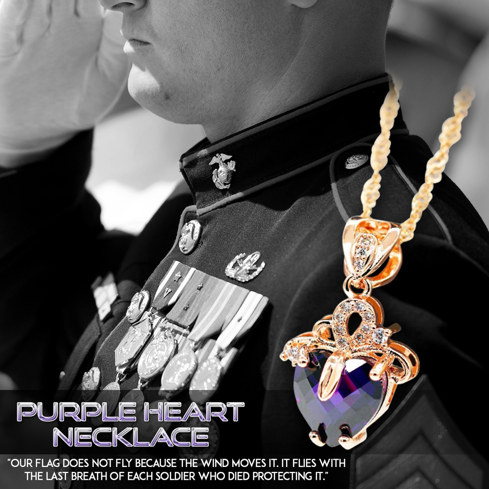 Purple Heart Necklace