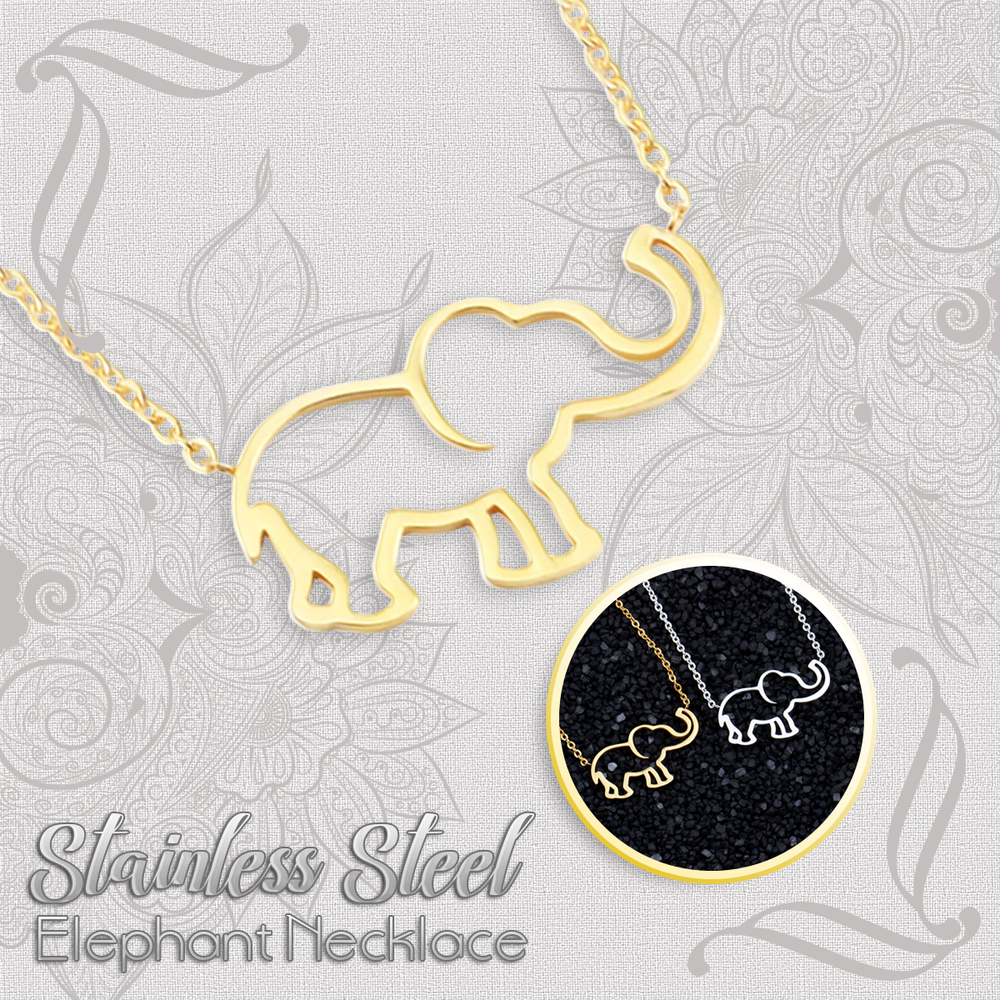 Stainless Steel Elephant Necklace