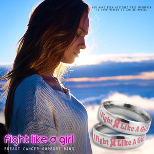"Breast Cancer Awareness ""Fight Like a Girl"" Ring"
