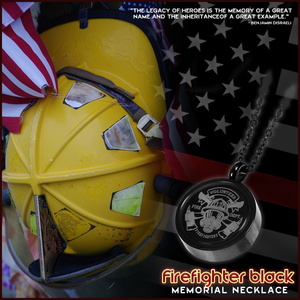 Firefighter Black Memorial Necklace
