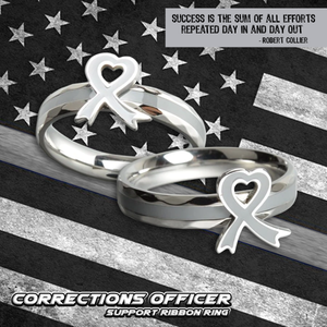 Corrections Officer Support Ribbon Ring