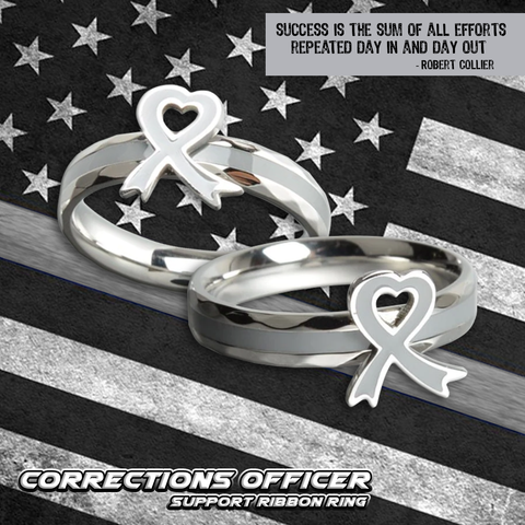 Corrections Officer Ribbon Ring