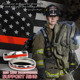 Couples Red Line Firefighter Ring