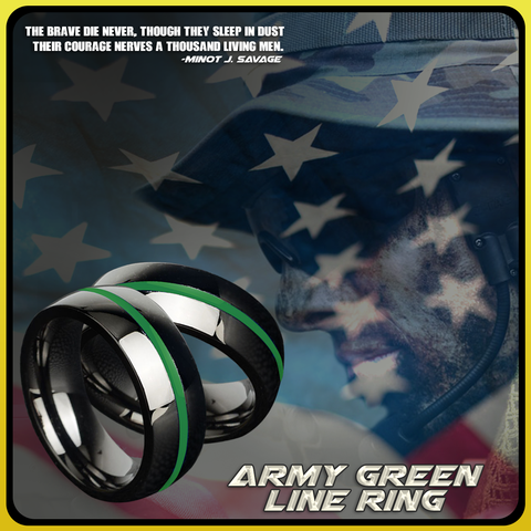 Army Green Line Ring