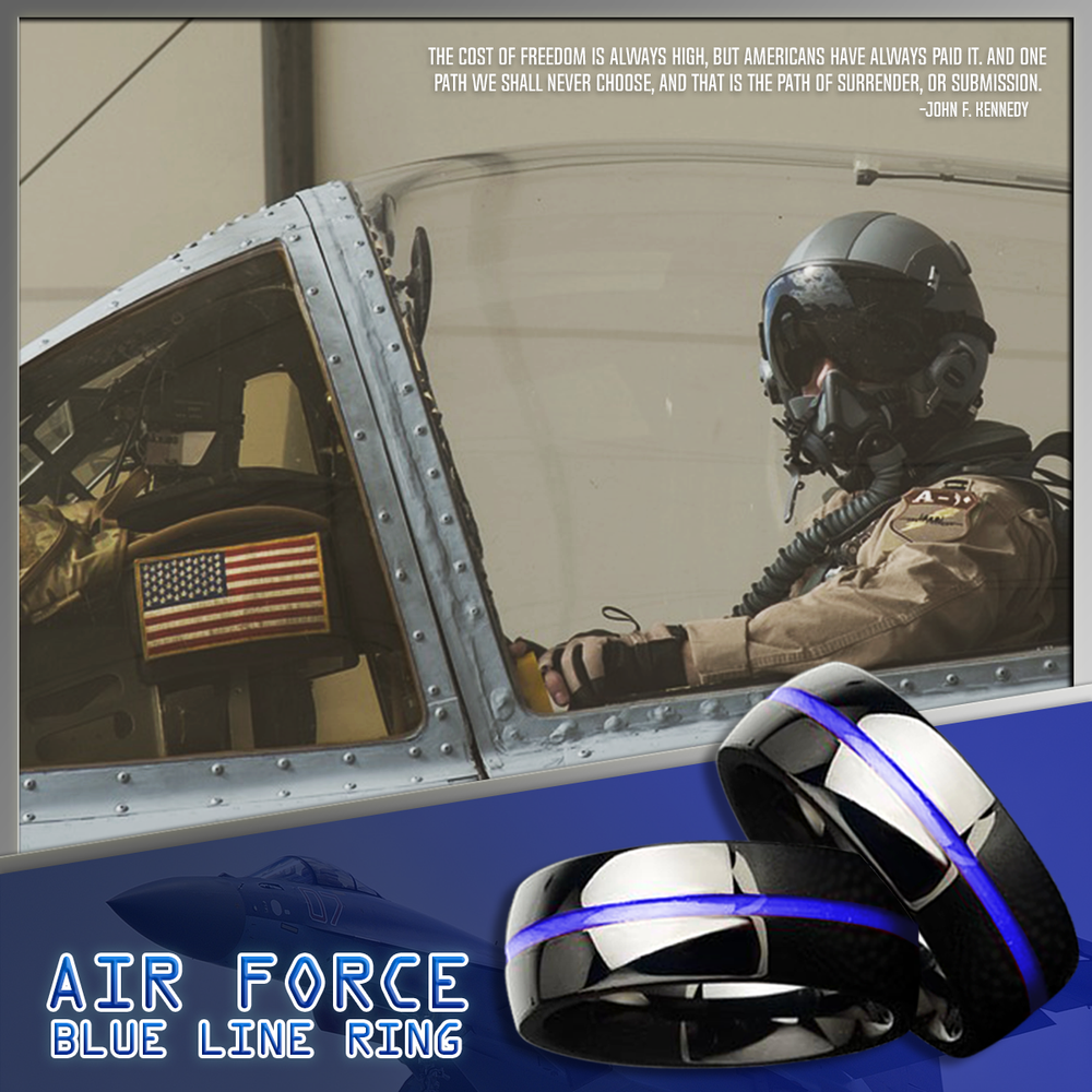 Air Force Blue Line Ring