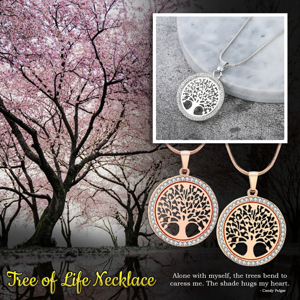 Tree of Life Cancer Awareness Necklace