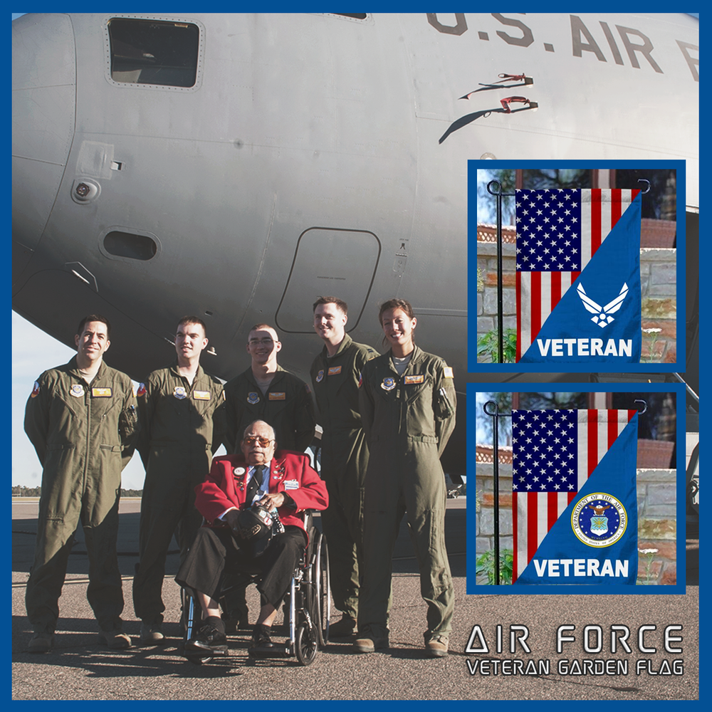 Air Force Veteran Garden Flag
