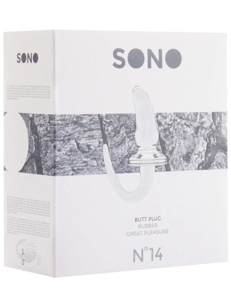 SONO NO. 14 Butt Plug 4 Inch Transparent
