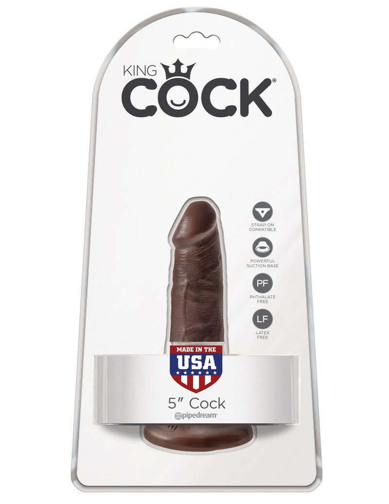 King Cock 5 in. Cock Brown