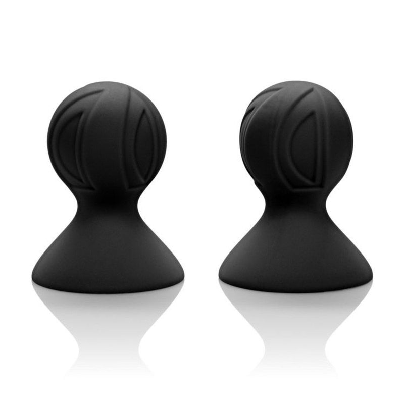 Nipple Play Silicone Pro Nipple Suckers - Black