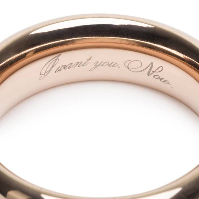 Fifty Shades Freed I Want You Now Steel Love Ring