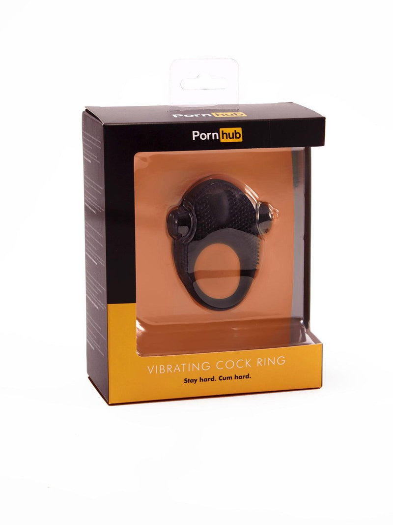 Pornhub Vibrating Cock Ring Black