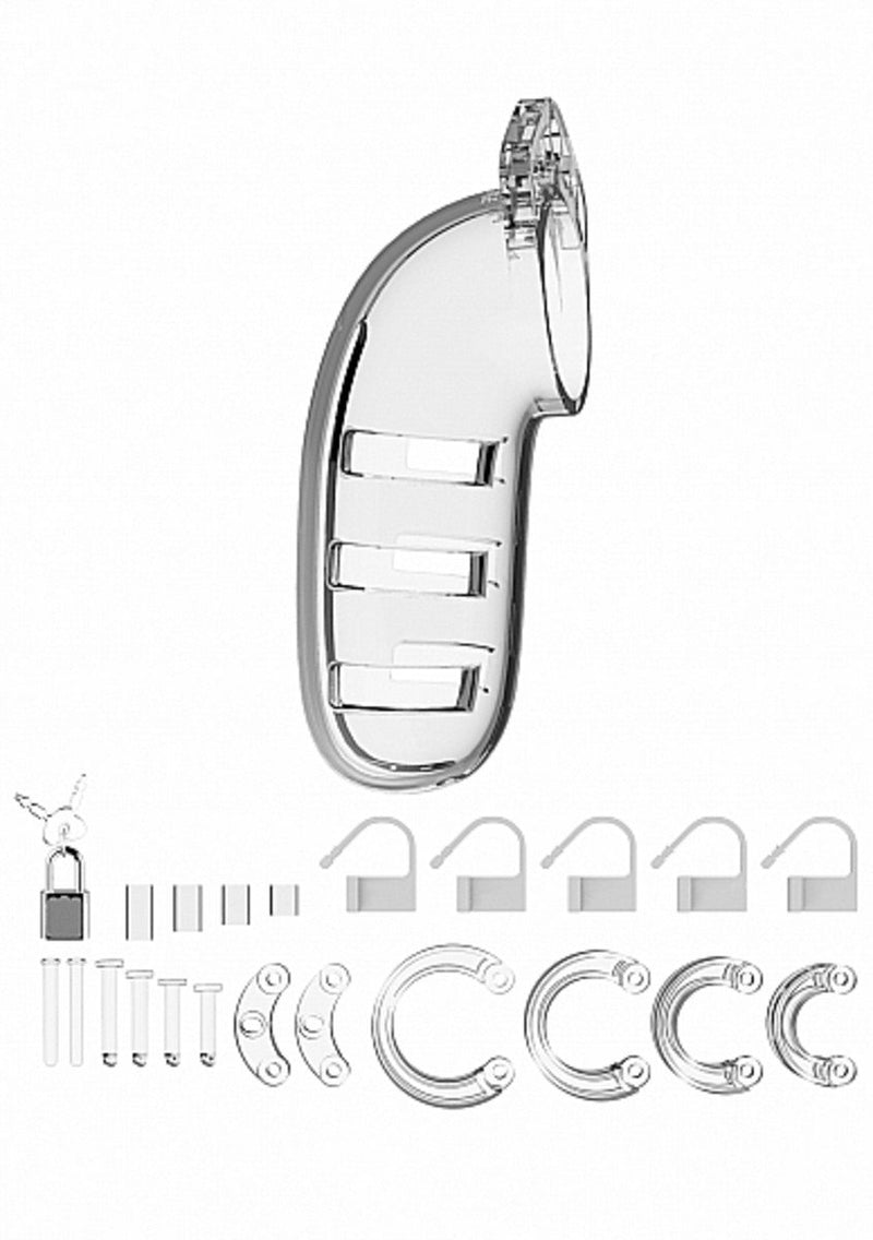 ManCage Model 06 Chastity 5.5 in. Cock Cage Transparent or Black