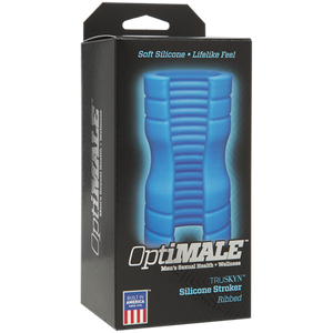 OptiMALE TRUSKYN Silicone Stroker Ribbed Blue