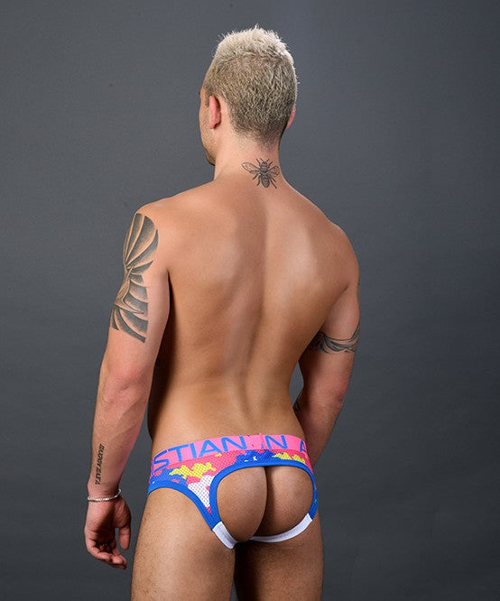 Vivid Camo Mesh Locker Room Jock w/ Almost Naked