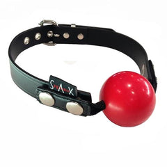 Rubber Ball Gag with Leather Strap