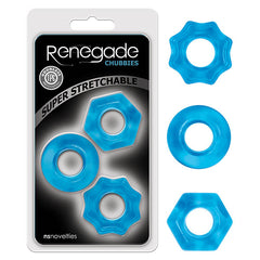 Renegade Chubbies - Blue Cock Rings - Set of 3