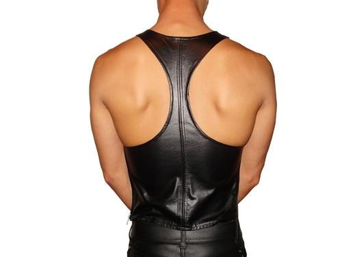 Action Back Singlet Leather