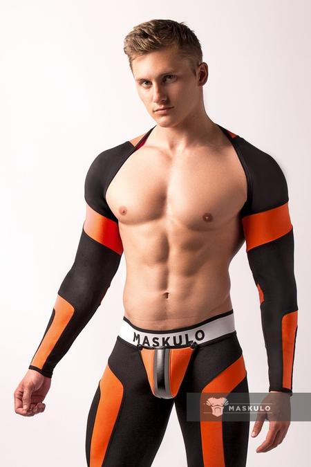 Men's Fetish Top. Spandex. Long Sleeves. Neon