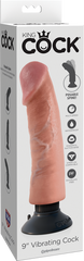 King Cock 9'' Vibrating Cock - Flesh 22.9 cm Vibrating Dong