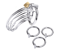 Bird cage style male chastity device