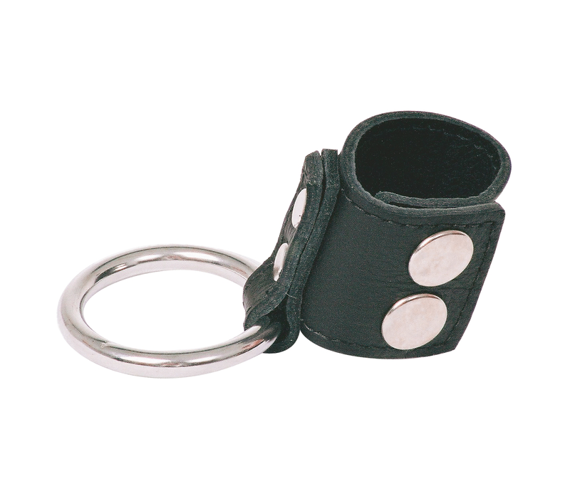 Leather Ball Stretcher Cock Ring