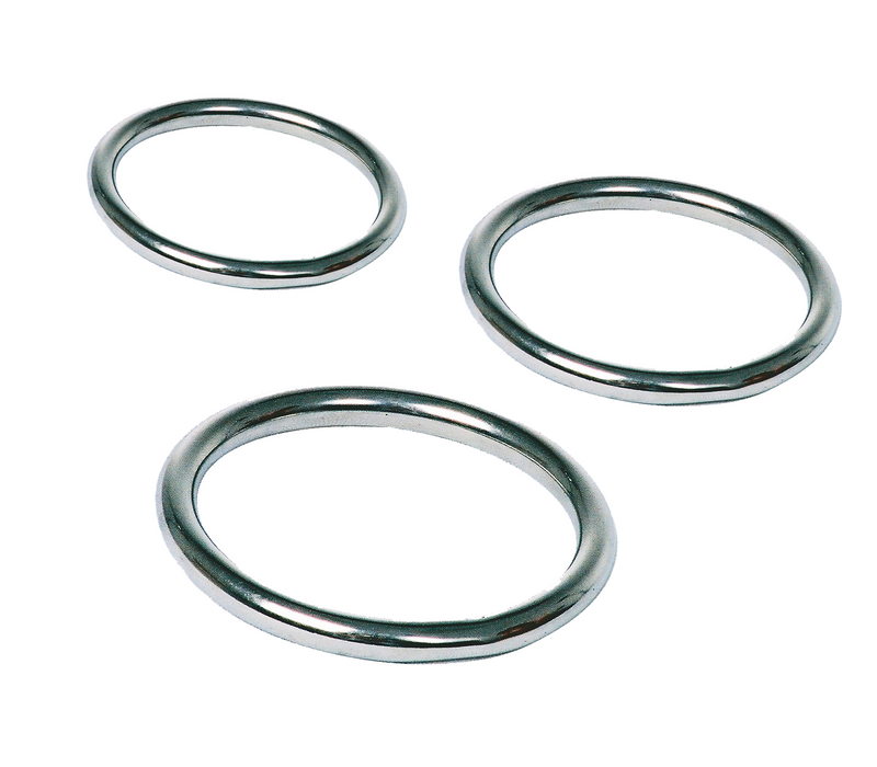Stainless steel cock ring three pack.