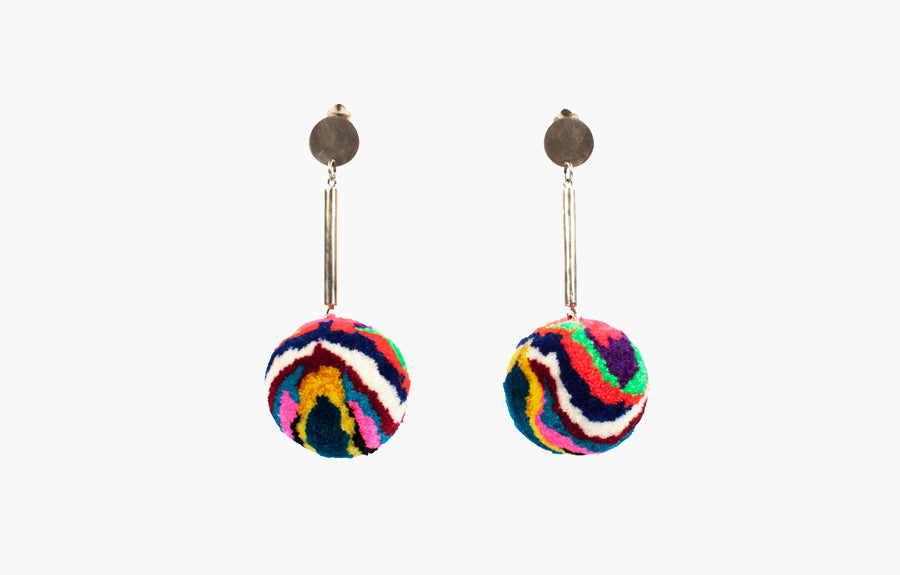 Meche Correa Pom Pom Earrings, Bodega MATE