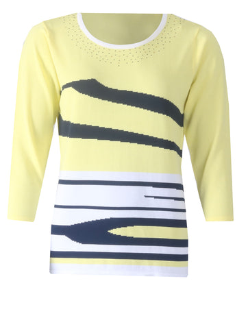 Diamonte Jumper - Yellow/Navy