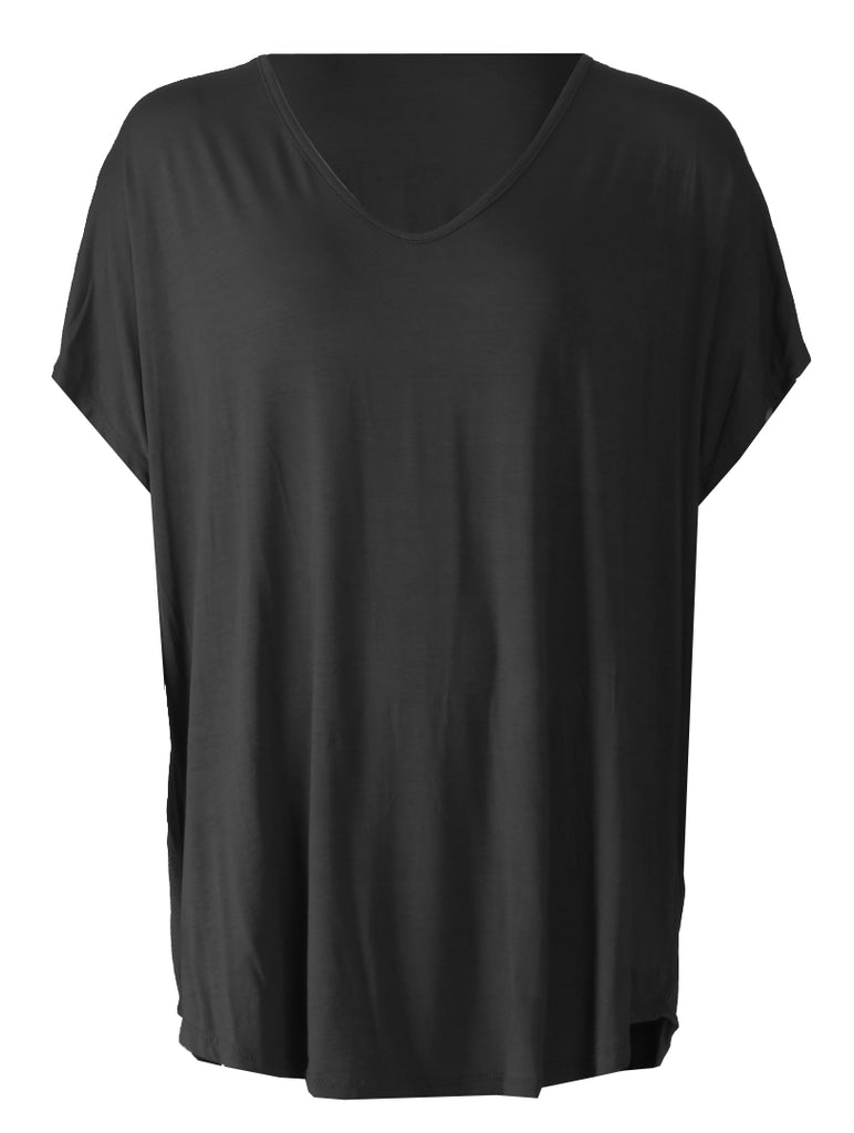 V Neck T-shirt - Black