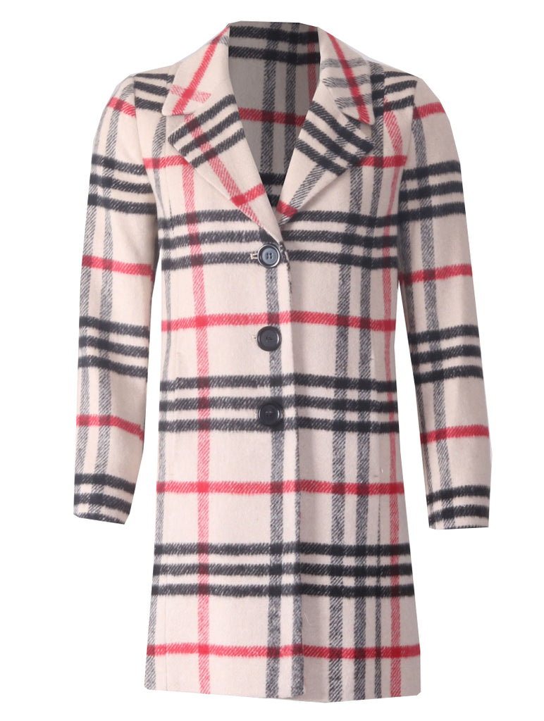 Cheryl Coat- Black/Red/Beige
