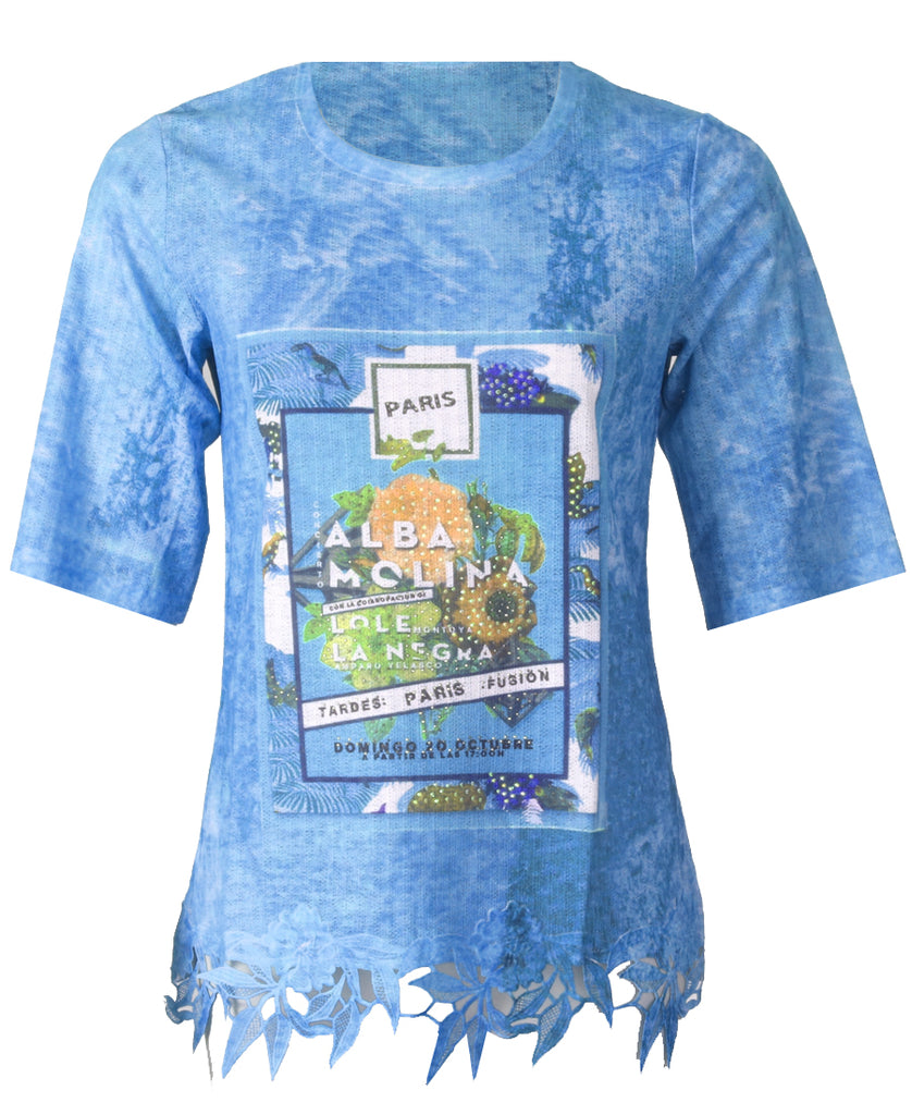 Printed Tshirt - Blue