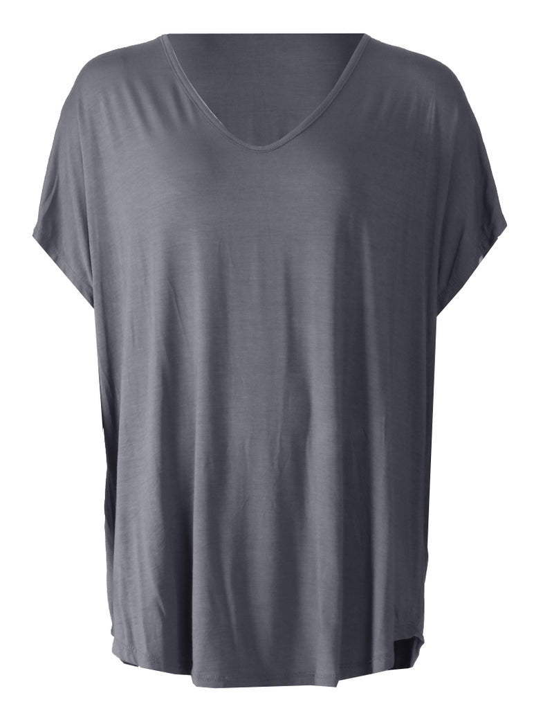 V Neck T-shirt - Grey