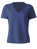 V Neck with Notches - Navy