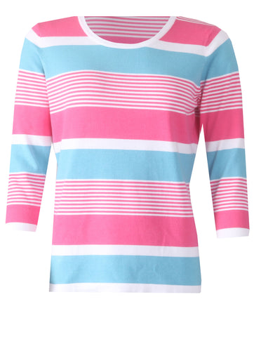 Stripe Jumper - White/Pink